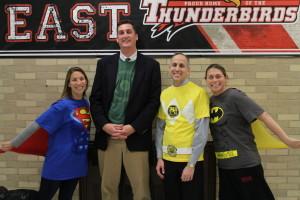 Teachers show their spirit on Superhero Day